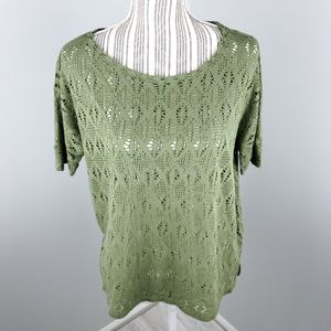 Old Navy green open mesh top  Size  SP